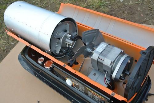 Дизельная тепловая пушка при ремонте