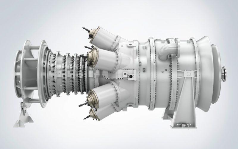 Макет газотурбинного двигателя SGT-400.